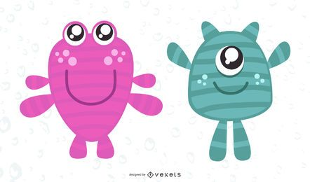 Cute Vector Monsters