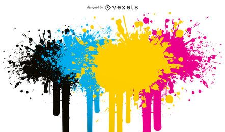 CMYK Splatter Design