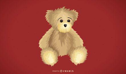 Teddy bear illustration design