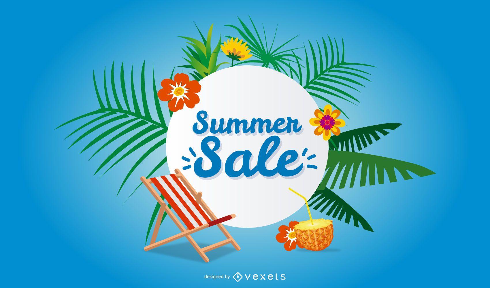 Diseño de banner de promoción de verano