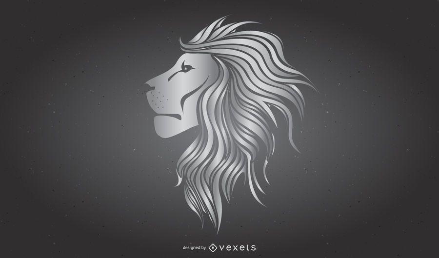 Enfriar el vector de leones de metal