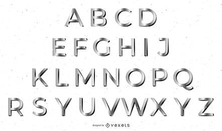3D metal font design