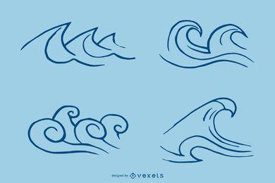 Gráfico vetorial de ondas 1