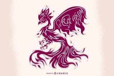 Vector de corte de papel de Phoenix