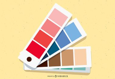 Vector de sombra de color de cuatro estaciones