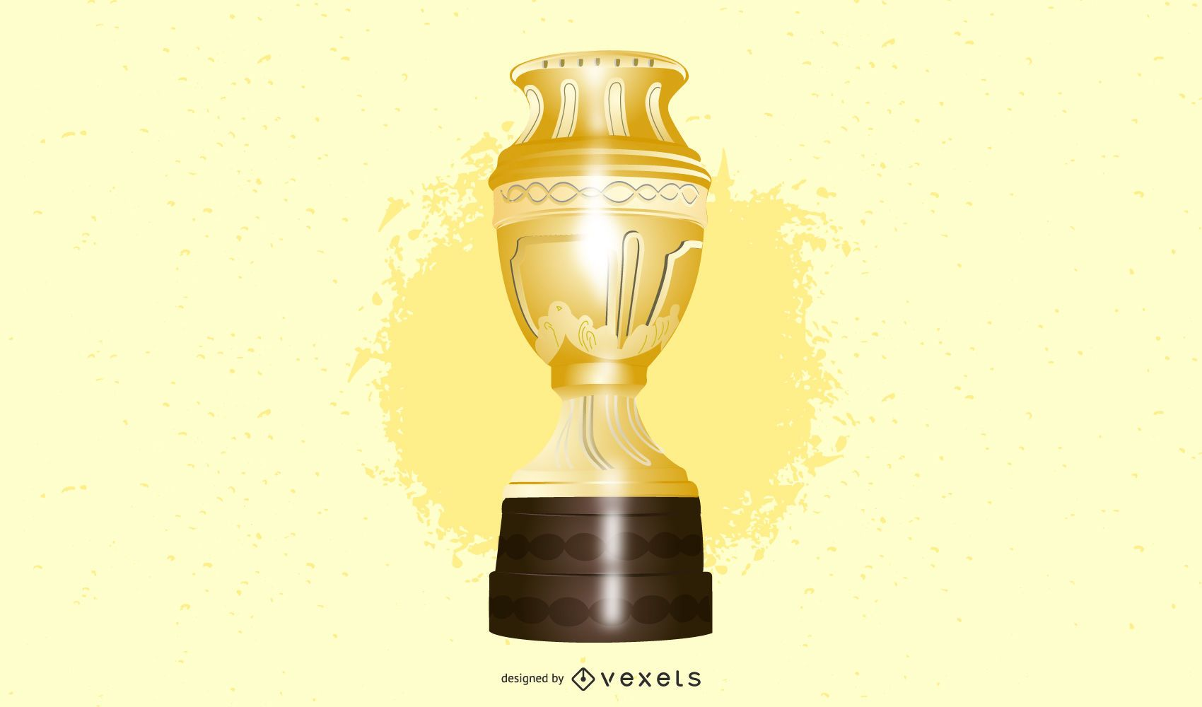 Trophy Gold And Silver Medals Vector