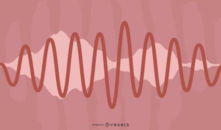 Ondas de áudio dinâmicas 04 vetor