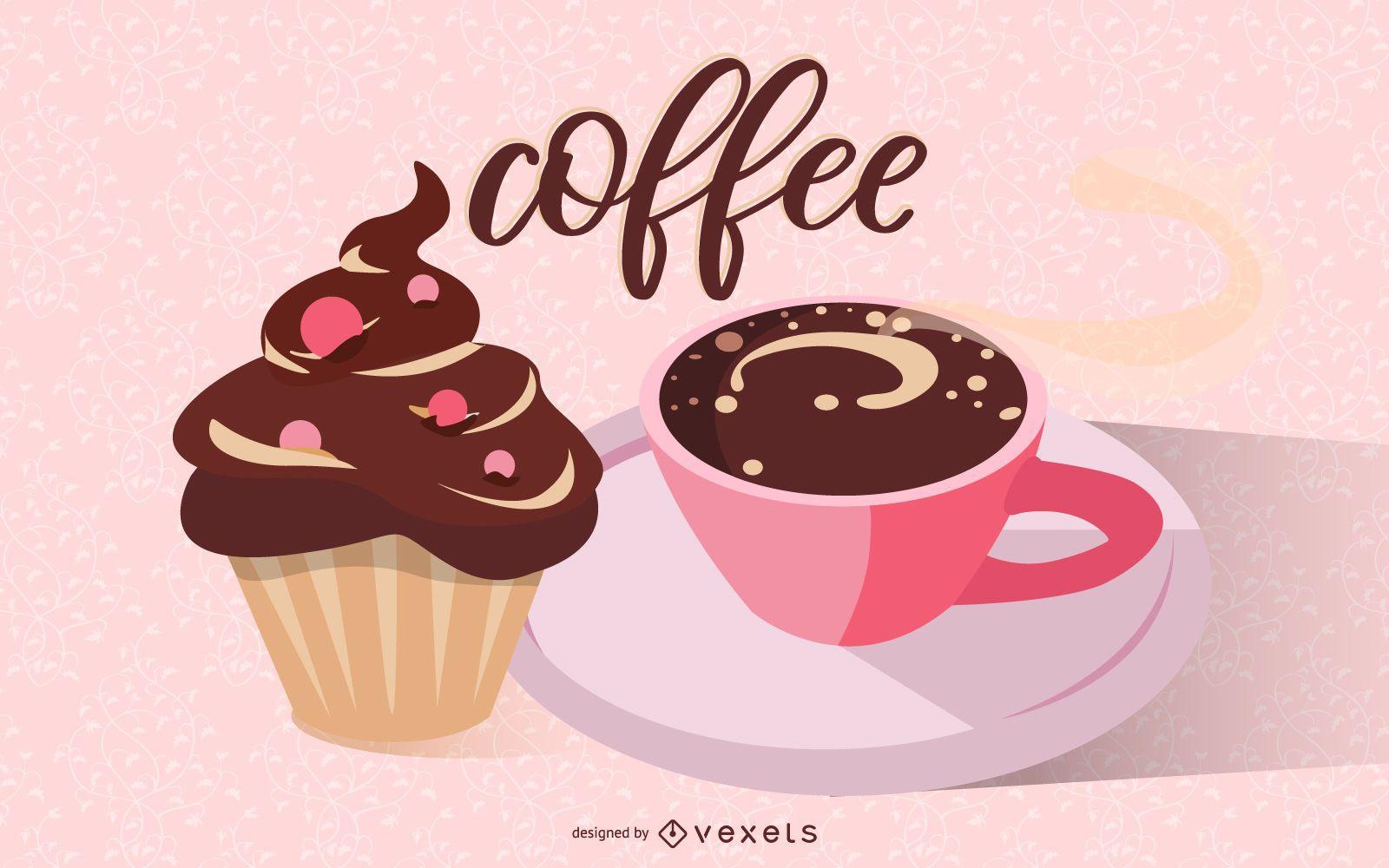 Elemento de café fino 04 Vector
