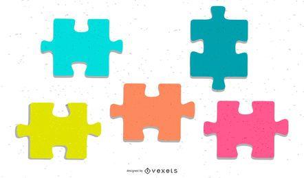 Glänzender Vektor des Puzzlespiel-03