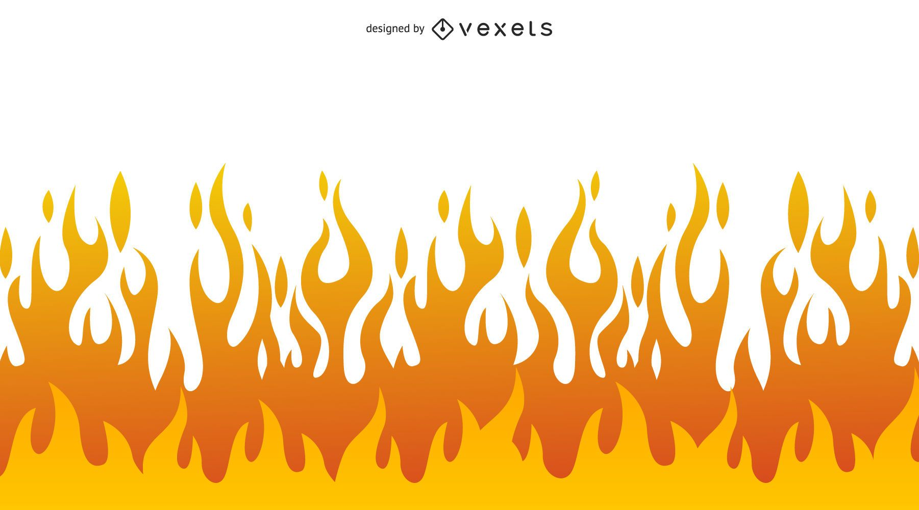 Ilustración de llama simplista