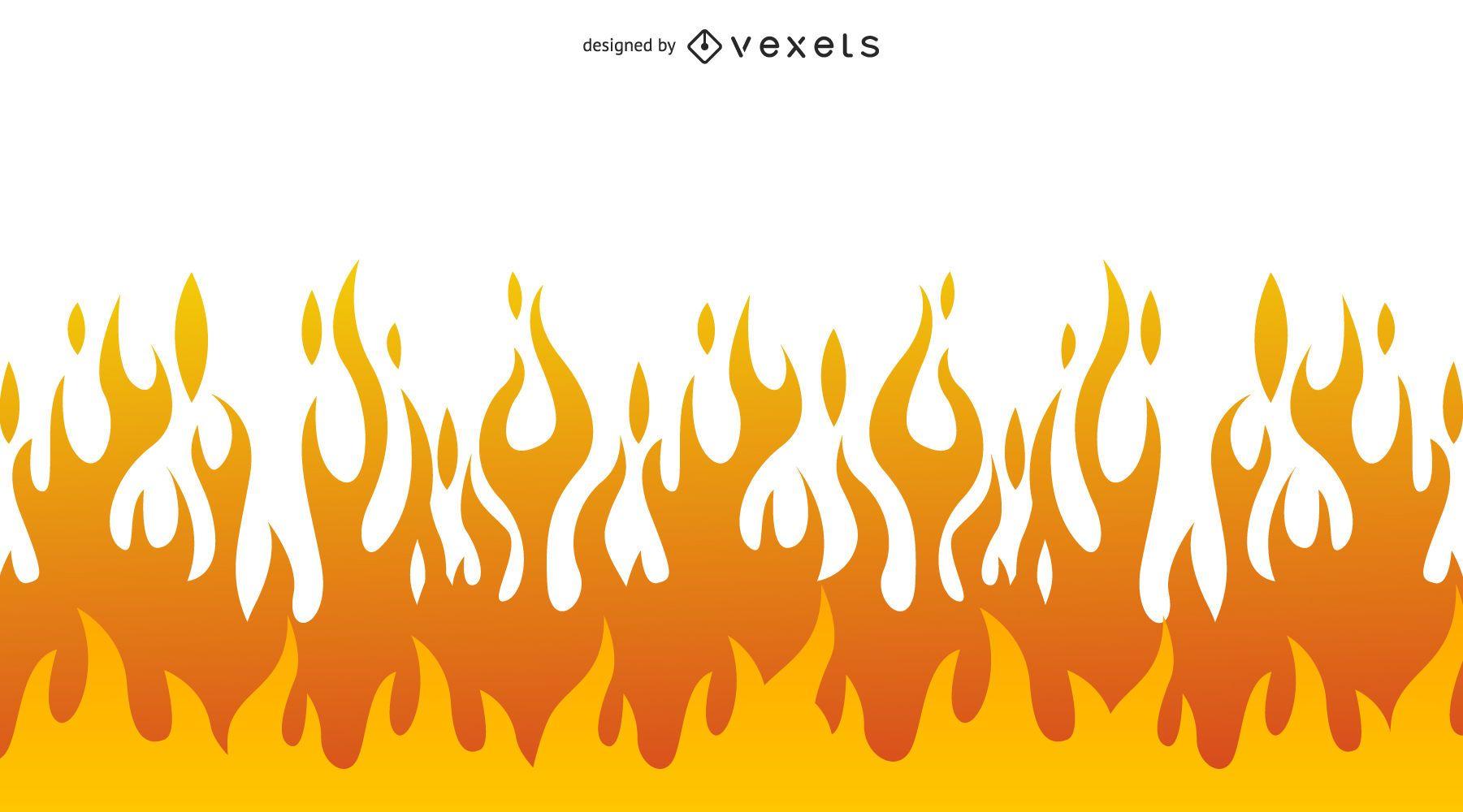 Simplistic flame illustration