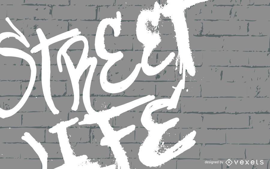Street Life Graffiti Illustration