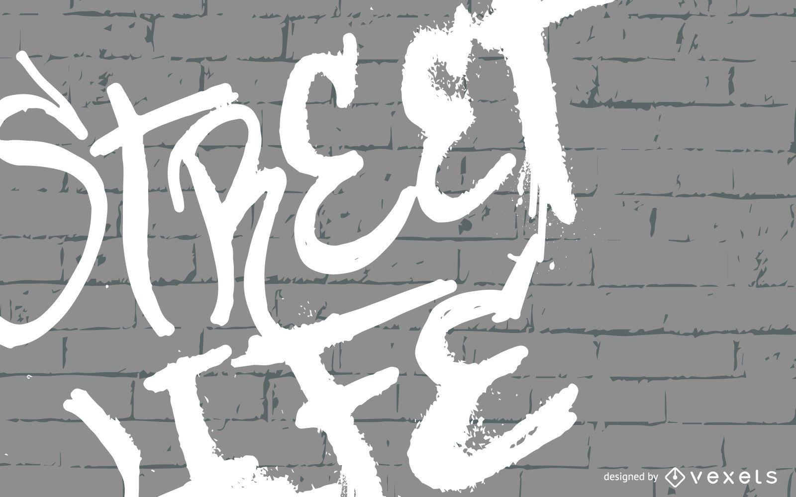 Ilustração de graffiti de Street Life