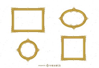 Quadro antigo de ouro 02 vector