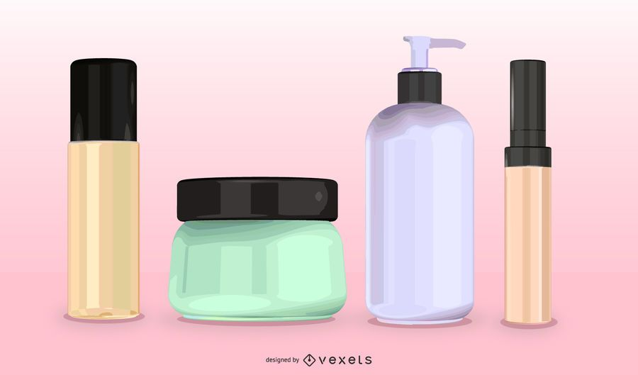 Cosmetic Container 01 Vector