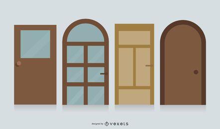 Vetor de porta de segurança de porta