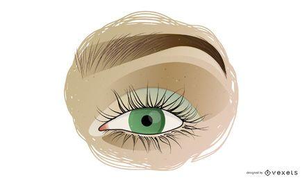 Vector hermosos ojos