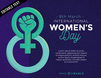 Día de la mujer tema vectorial