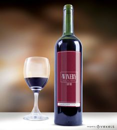 Vector elegante etiqueta de vino