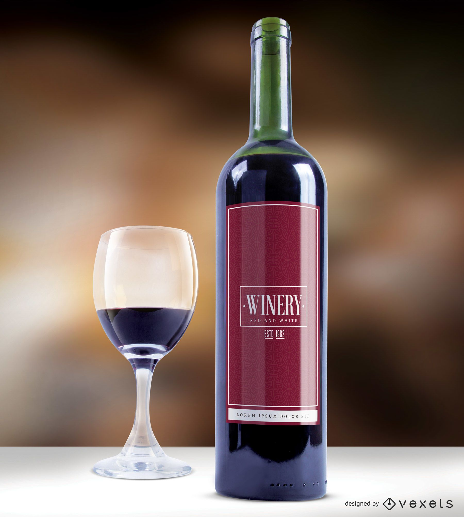 Vector de etiqueta de vino elegante