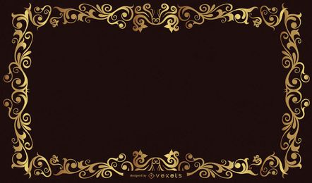 Europeanstyle Gold Frame Vector