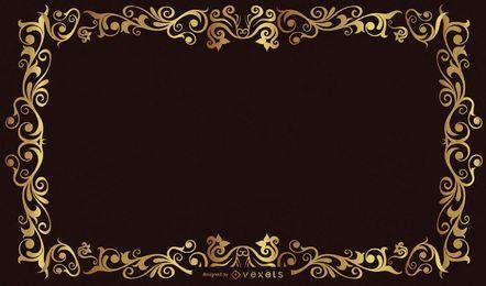 Vector de marco de oro de estilo europeo