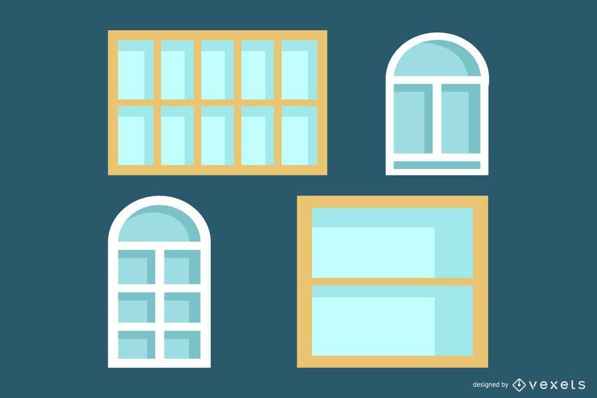 Quadros de janela Hook Line Vector