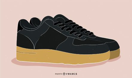 Vector de zapatos Nike bien