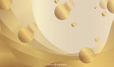 Hermosa frontera de encaje de oro Vector 4