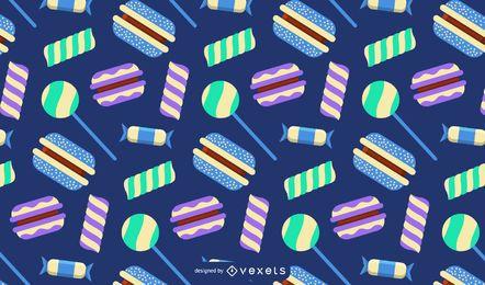 Patrón de dulces y caramelos