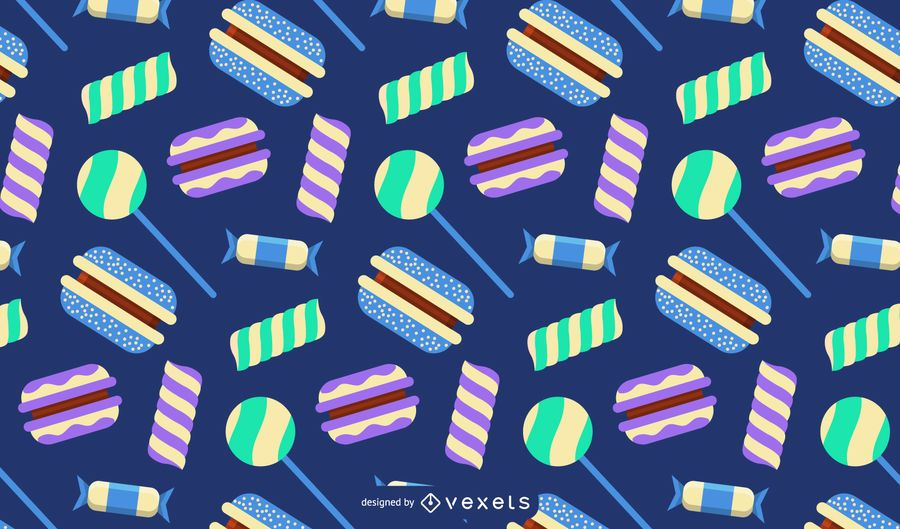 Sweets and candies pattern
