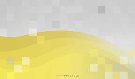 Fondo amarillo y mosaico