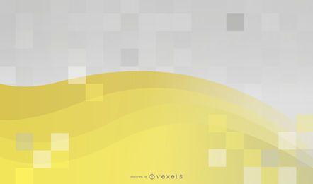 Fundo amarelo e mosaico