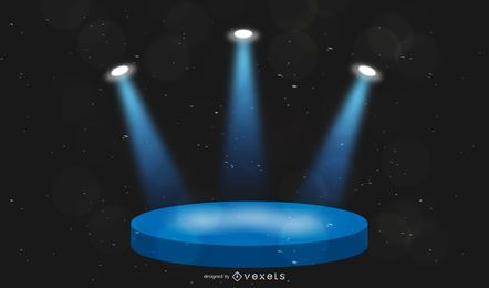 Illuminated stage illustration design