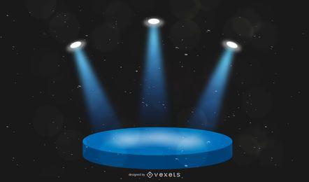 Illuminated stage illustration design