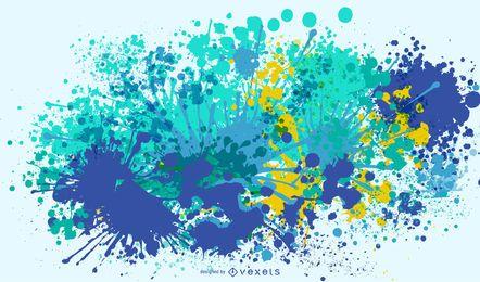 Marine Colors Splatter Design