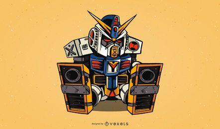 Gratis Gundam Rx782 Vector Graphic