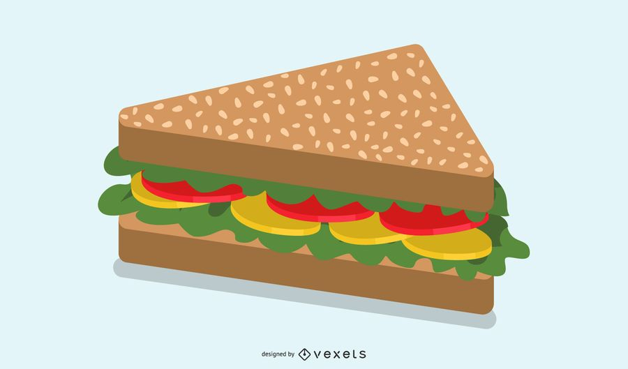 Fast Food Vector Sandwich