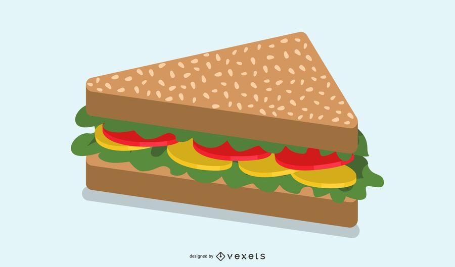 Sanduíche de vetor de fast-food