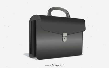 Black Glossy Business Briefcase