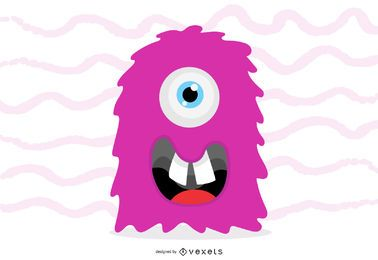 Vector de monstruo rosa