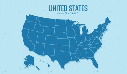 Vector de mapa de Estados Unidos