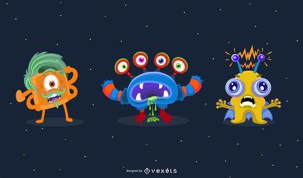 Alien-Zeichen-Vektoren