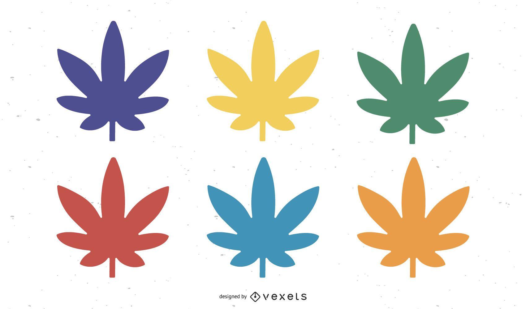 Vetor grátis de folhas coloridas Nixvex