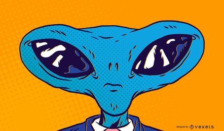 Cabeça alienígena personagens 2