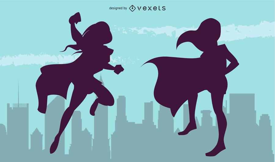 Vectores de superheroínas