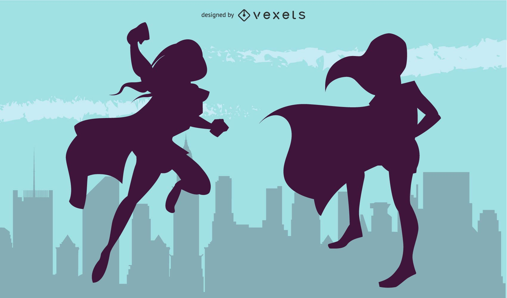 Superheroines Vectors