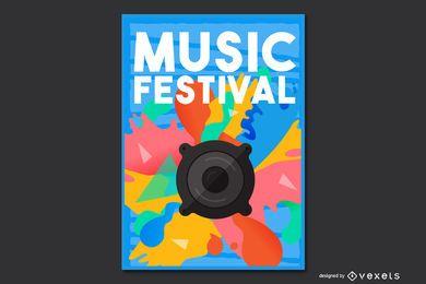 Flyer de la fiesta de la música