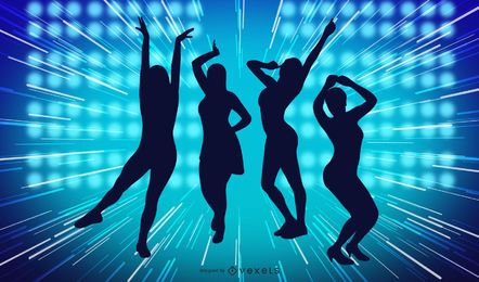 Gráficos coloridos de la danza