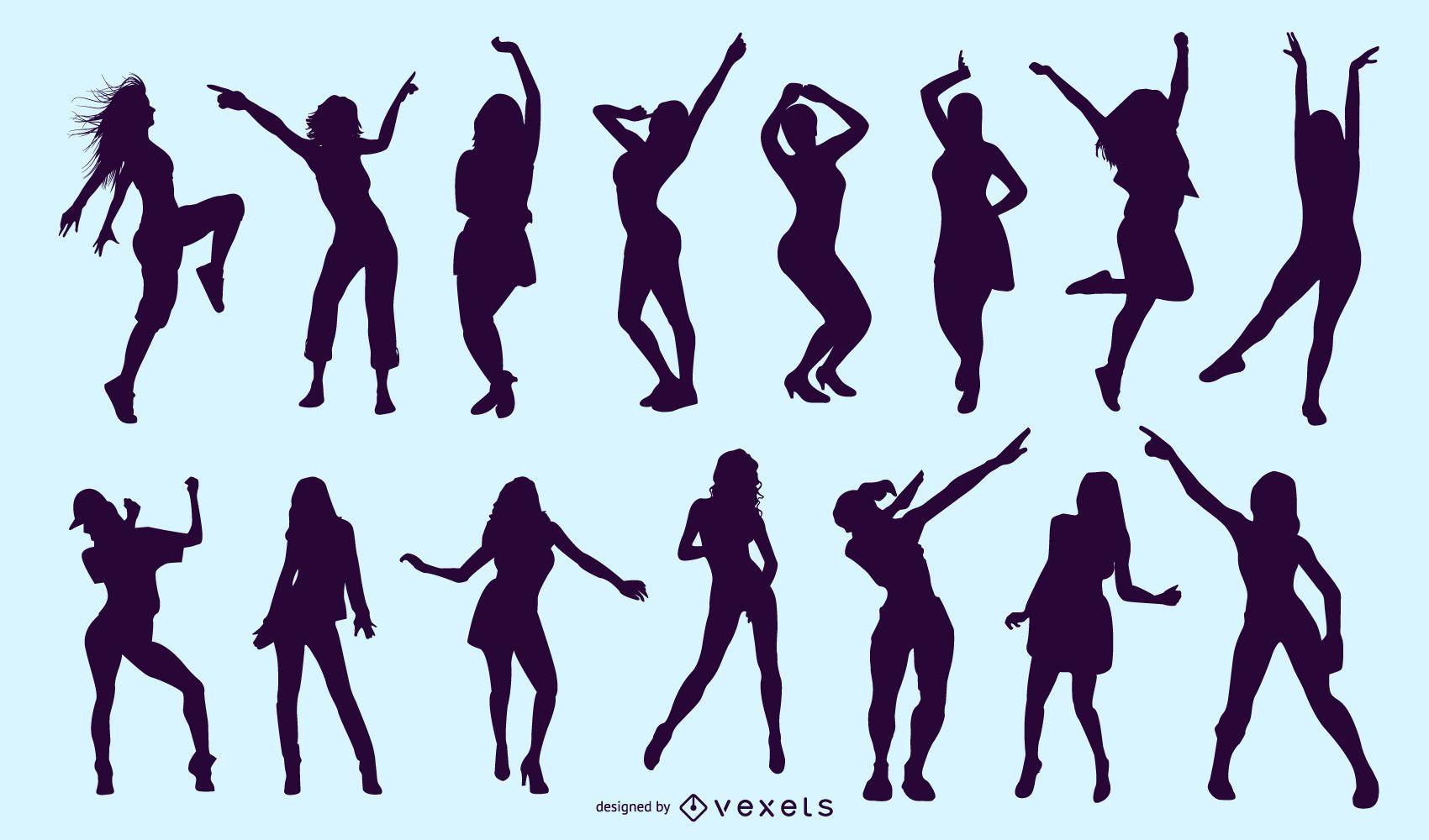 Gráficos de danza coloridos